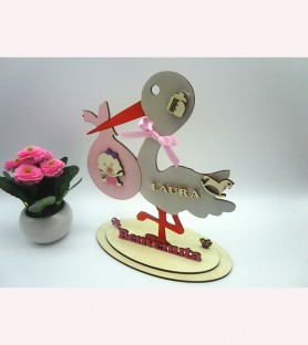 Wooden stork for birth