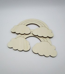 Arcobaleno sagomina in legno