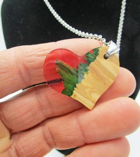 Mountain heart necklace