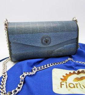 Dark Blue wooden bag