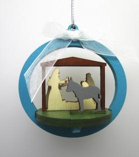 Nativity scene in the ball