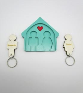 Little men house key hanger