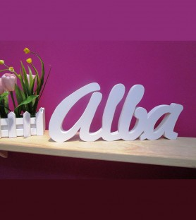 Personalized wooden lettering