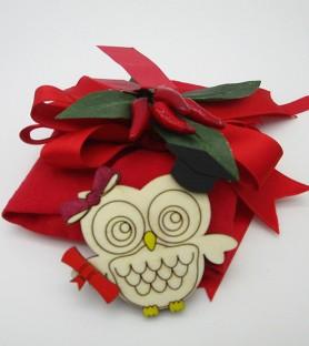 Owl magnet graduation favor