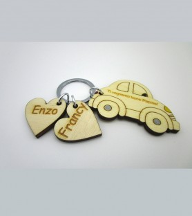 Wooden keychain for dad