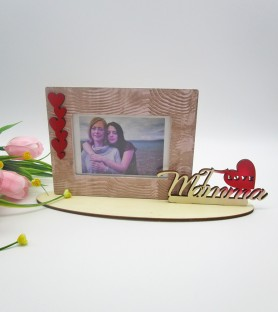 "Photo frame ""I love mamma"""
