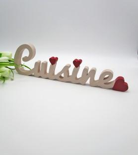 Cuisine decorative lettering